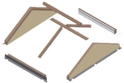 FAKRO EFR Flat Roof Gable Systems