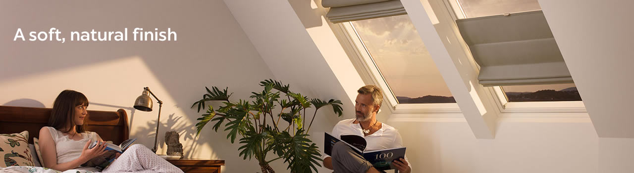 VELUX window Roman blinds