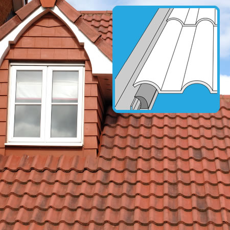 Flashing for tile roofs