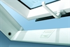 FAKRO white-paint centre pivot roof window open - Sterlingbuild