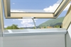 FAKRO z-wave triple glazed laminated centre pivot roof window open - Sterlingbuild