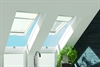 FAKRO white paint laminated top hung roof window in bathroom - Sterlingbuild