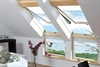 FAKRO pine laminated fixed l-shape window internal - Sterlingbuild
