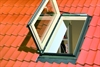 FAKRO white laminated left side hung escape roof window in roof - Sterlingbuild