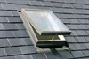 FAKRO pine single glazed top hung access skylight external - Sterlingbuild