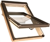 FAKRO FTP-V P5 06 Pine Triple Glazed Laminated Centre Pivot Roof Window 78x118cm