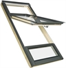 FAKRO FDY-V P2 CA Duet proSky Pine Laminated High Pivot Roof Window 78x186cm
