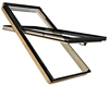 FAKRO FTT/C U8 Thermo 09 Conservation Pine Quadruple Glazed High Pivot Roof Window 94x140cm