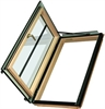 FAKRO conservation pine laminated left side hung escape roof window - Sterlingbuild