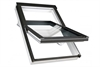 FAKRO white PU laminated centre pivot roof window - Sterlingbuild