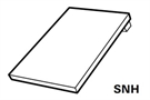 Roto EDR Rx WD 1x1 SNH AL 5/7 Plain Tile Flashing for Insulated Window 54x78cm