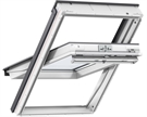 VELUX GGU 0066 White PU Triple Glazed Centre Pivot Roof Window