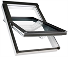 FAKRO PTP-V P2 01 White PVC Laminated Centre Pivot Roof Window 55x78cm