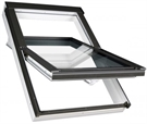 FAKRO FTW-V P5 11 White Paint Triple Glazed Centre Pivot Roof Window 114x140cm