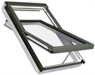 FAKRO FTW-V P5 Z-Wave White Paint Triple Glazed Laminated Centre Pivot Roof Window
