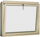 FAKRO BVW P2 81 White Paint Laminated Tilt Opening L-Shape Window 78x75cm