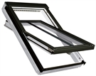 FAKRO FTT/U/C U8 Thermo 02 Conservation White PU Quadruple Glazed High Pivot Roof Window 55x98cm