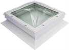 Fixed Domed Window Single Skin, Opaque with Vents & 15cm ECO Splayed Kerb 80x80cm