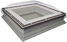FAKRO DXC-C P4 6060 Secure White PVC Enhanced Security Fixed Domed Flat Roof Window 60x60cm