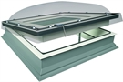 FAKRO DEC-C U8 Z-Wave 90120 Electric White PVC Quadruple Glazed Domed Flat Roof Window 90x120cm