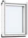 VELUX VIU 0066 White PU Triple Glazed Fixed Vertical Element