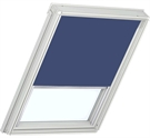 Blackout Blind 55x98cm Navy Blue with White Frame ECO+
