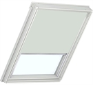 Roto ZRB QM W 1-R02 5/11 Roller Blind with White Sides - Light Beige
