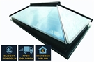 ECO+ Contemporary Glass Lantern Rooflight with Blue Tint & White External & White Internal 100x100cm
