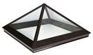 Fixed Pyramid with Black External/White Internal 100x100cm