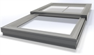 Signature Electric Sliding Flat Glass Easy Clean Rooflight 24V in Slate Grey 100x120cm