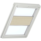 VELUX Electric Flying Pleated Blind 1258 - Delightful Cream