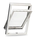 RoofLITE KEV F6A B1210 Ultima White Paint Noise Reduction Centre Pivot Roof Window 66x118cm