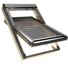 Sterlingbuild Pine Triple Glazed Centre Pivot Roof Window 78x118cm