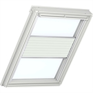 Roto ZFA M 73 W 1-F02 5/7 Pleated Blind with White Sides - Light Beige