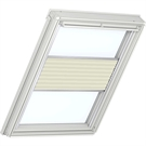 Roto ZFA M 73 W 1-F03 5/7 Pleated Blind with White Sides - Beige