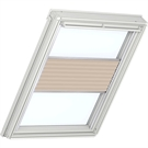 Roto ZFA M 73 W 1-F04 5/7 Pleated Blind with White Sides - Light Brown