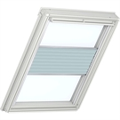 Roto ZFA M 73 W 1-F05 5/7 Pleated Blind with White Sides - Light Grey