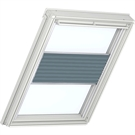 Roto ZFA M 73 W 1-F06 5/7 Pleated Blind with White Sides - Dark Grey