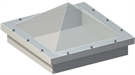 Electric Pyramid Double Skin with Wall Switch & 30cm ECO Splayed Kerb 150x150cm