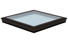 Triple Glazed Fixed Flat Glass Rooflight in Anthracite Grey 100x100cm