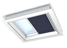 VELUX FMG 100100 1265 Electric Pleated Blind - Metallic Blue