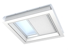 VELUX FMG 100150 1016 Electric Pleated Blind - White