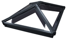 Korniche Glass Lantern Rooflight with Sunshade Blue Tint & Black/Black 150x350cm
