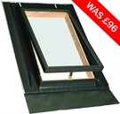 FAKRO WGT 01 Pine Single Glazed Top Hung Access Skylight 46x55cm