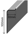 Cromar C100 Simulated Lead Flashing Trim - 3m
