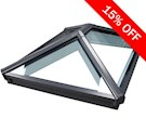 Korniche Glass Lantern Rooflight with Ambi Neutral Tint & Grey/Grey 174x514cm