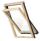 RoofLITE HIVE Slimline DPX B500 M4A Pine Centre Pivot Roof Window 78x98cm