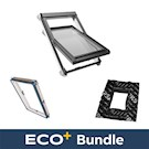 ECO+ White PVC Triple Glazed Roof Window Bundle With FREE Insulation Collar & Underfelt Collar