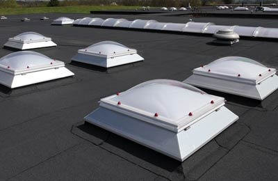 Em-Dome modular rooflights are high quality, durable polycarbonate rooflights