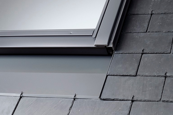 VELUX recessed slate flashings provide an aesthetically pleasing finish to the roof